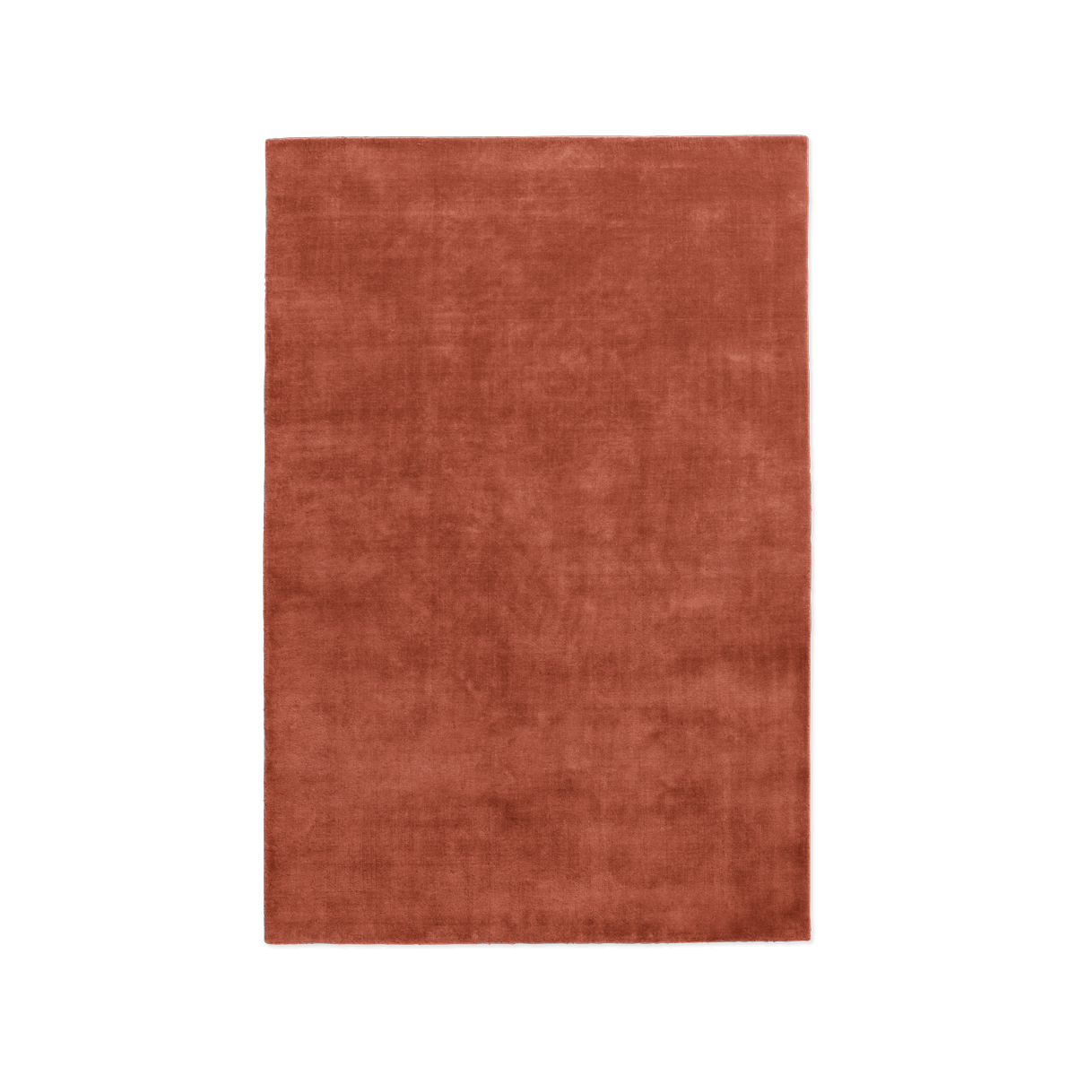 Product image of the plush rug Grand in the color Brick Red.