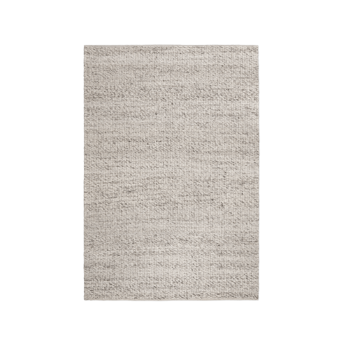 Product image of the chunky flatweave rug Dunes in the color Melange. It has a thick, braided texture.
