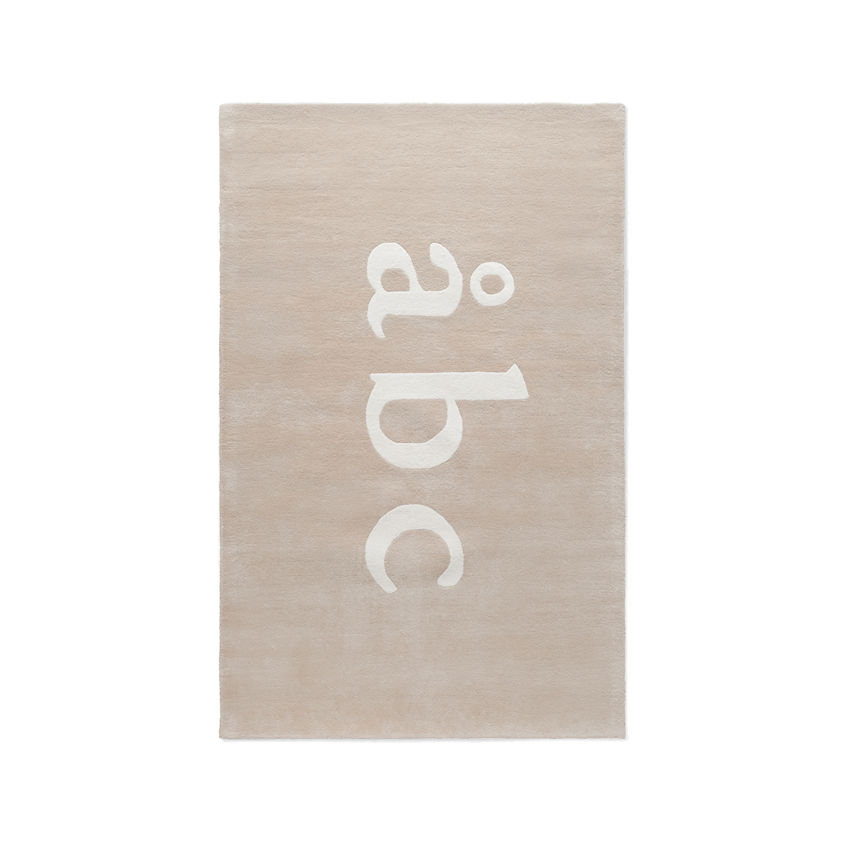 Product image of plush rug Åbc in color sand.