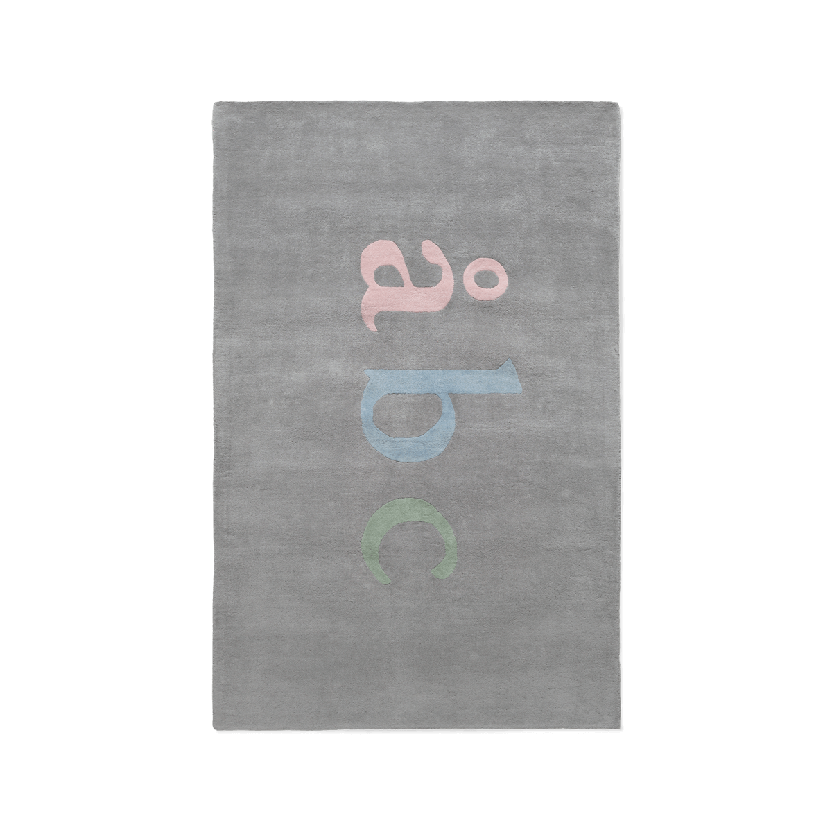 Product image of plush rug Åbc in color multi.