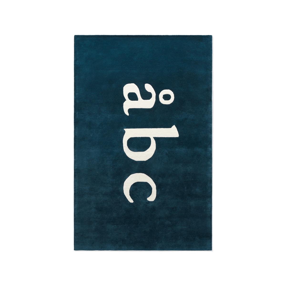 Product image of plush rug Åbc in color teal.