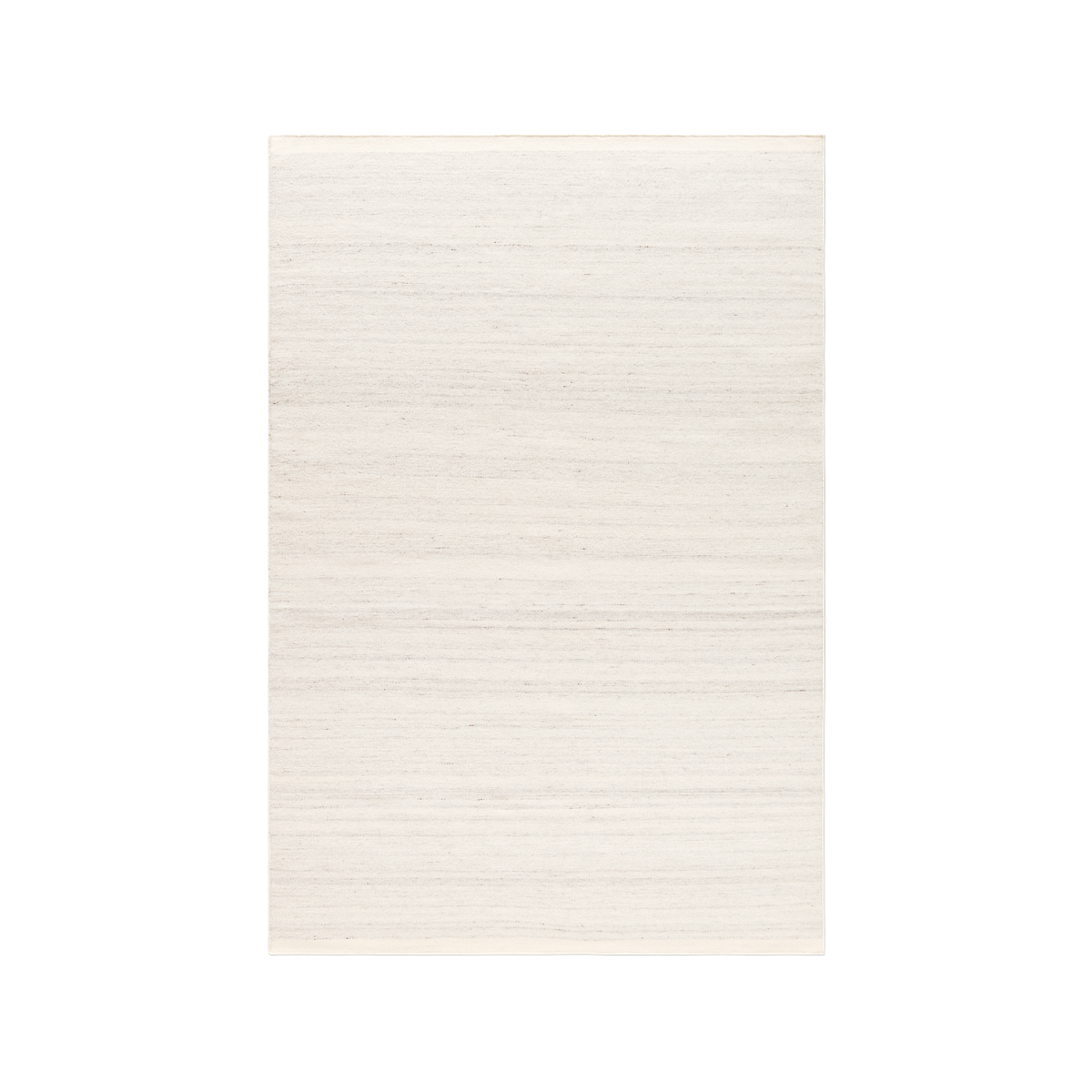 Product image of the flatweave rug Zero in color Cream Mix. The rug has two darker borders at the short sides.