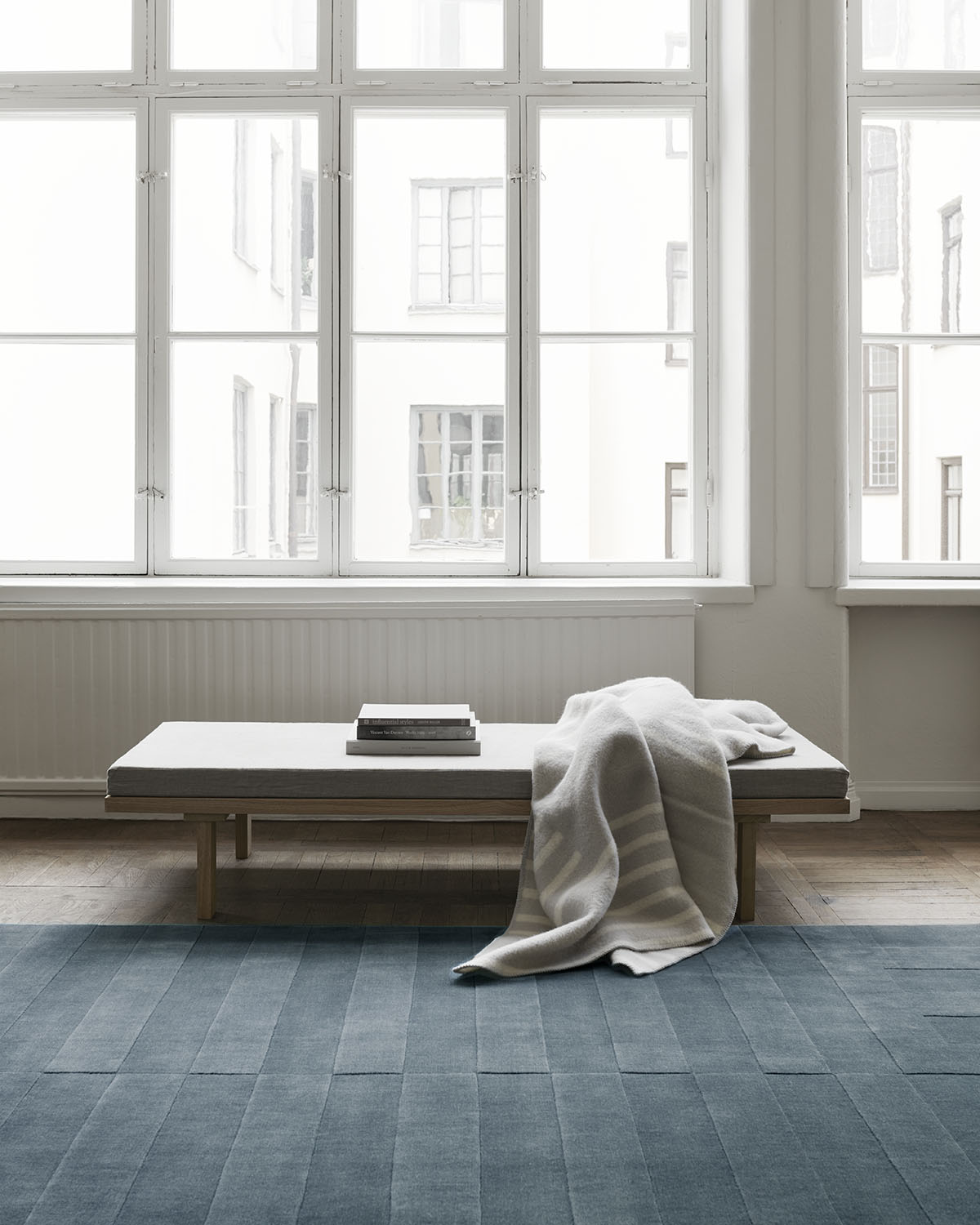 Lux 2 in the color Petroleum displayed in the Nordic Knots atelier.