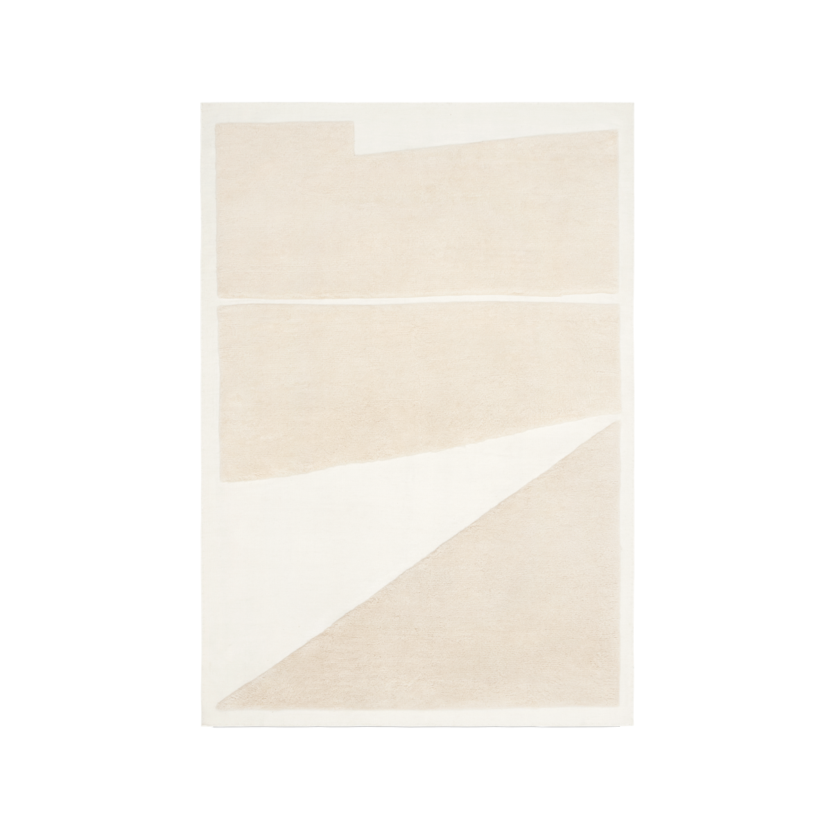 Product image of the flatweave and shaggy rug Untitled 2 in Cream and Almond.