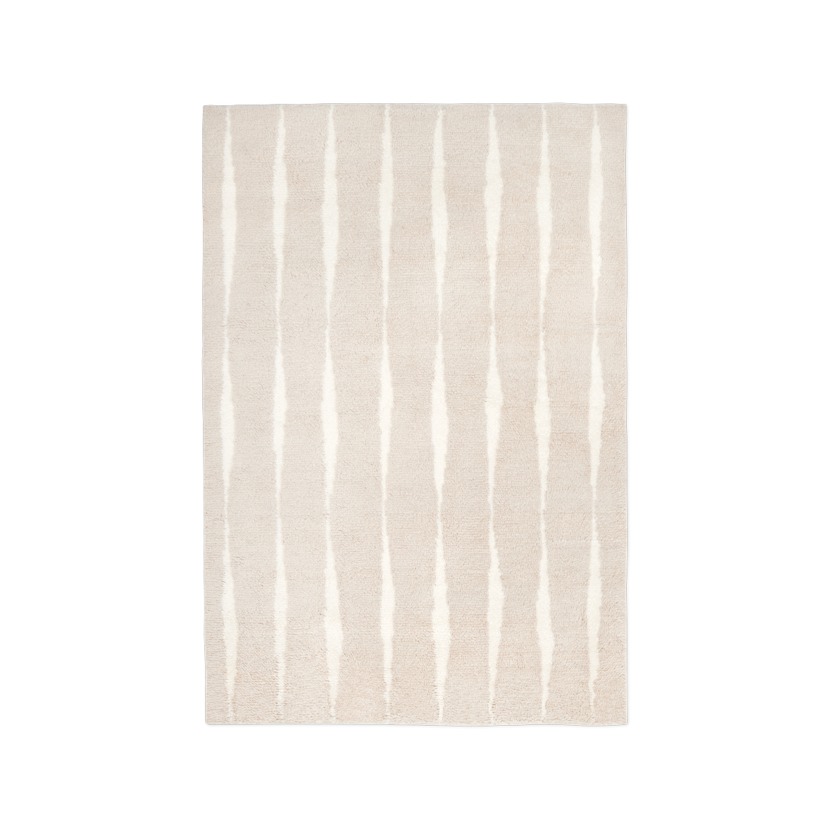 Product image of the shaggy rug Fjord in the color Pale Sand.