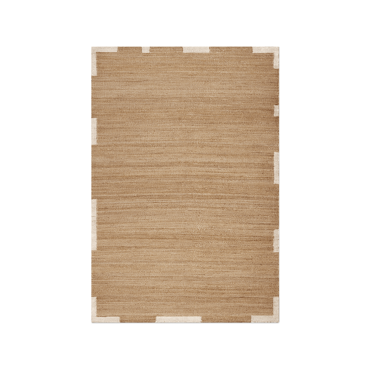Product image of Jute Edge Cream, a jute rug with an uneven frame in a cream color.