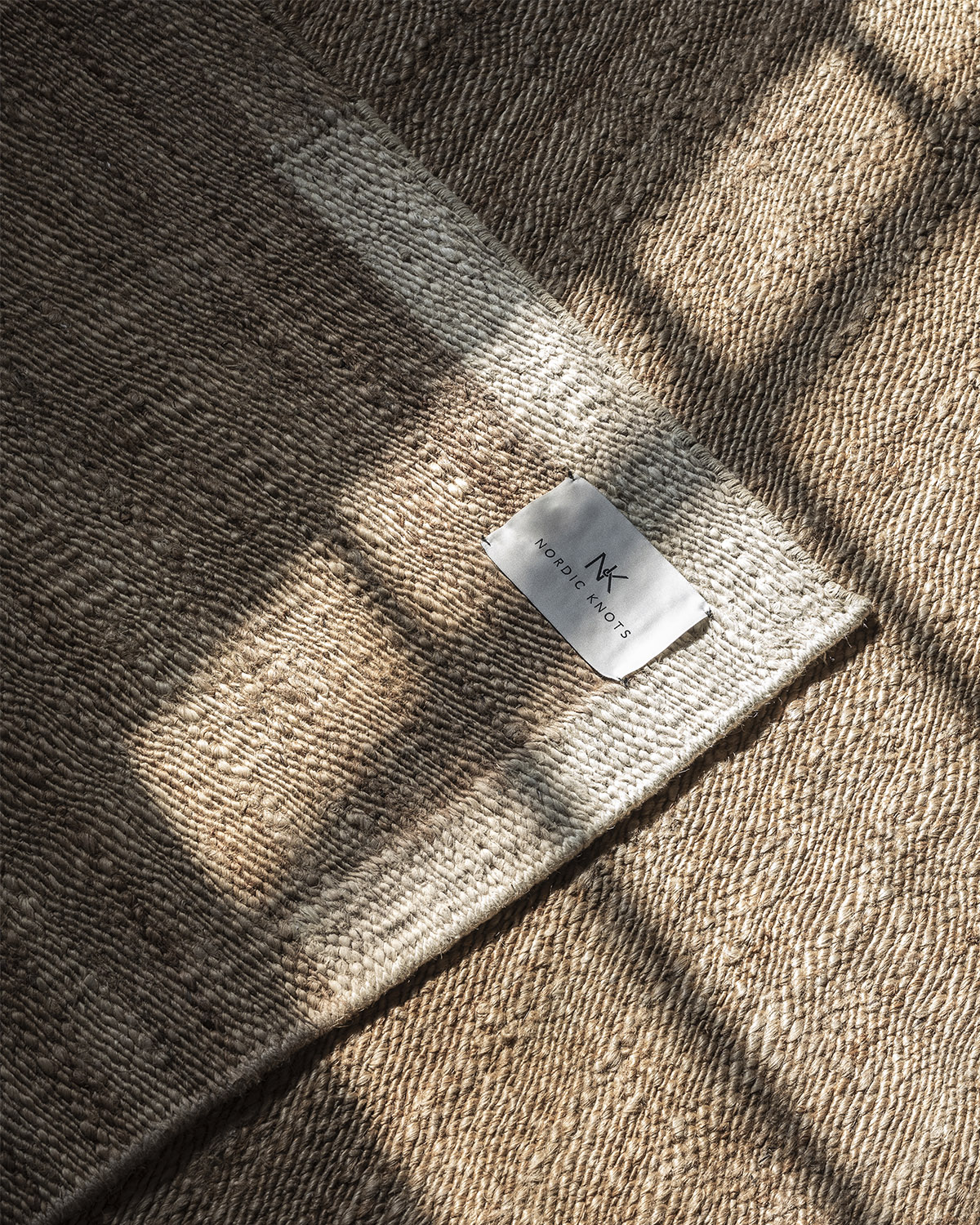 Close up of Jute Edge Cream, showing of the texture of the jute material.