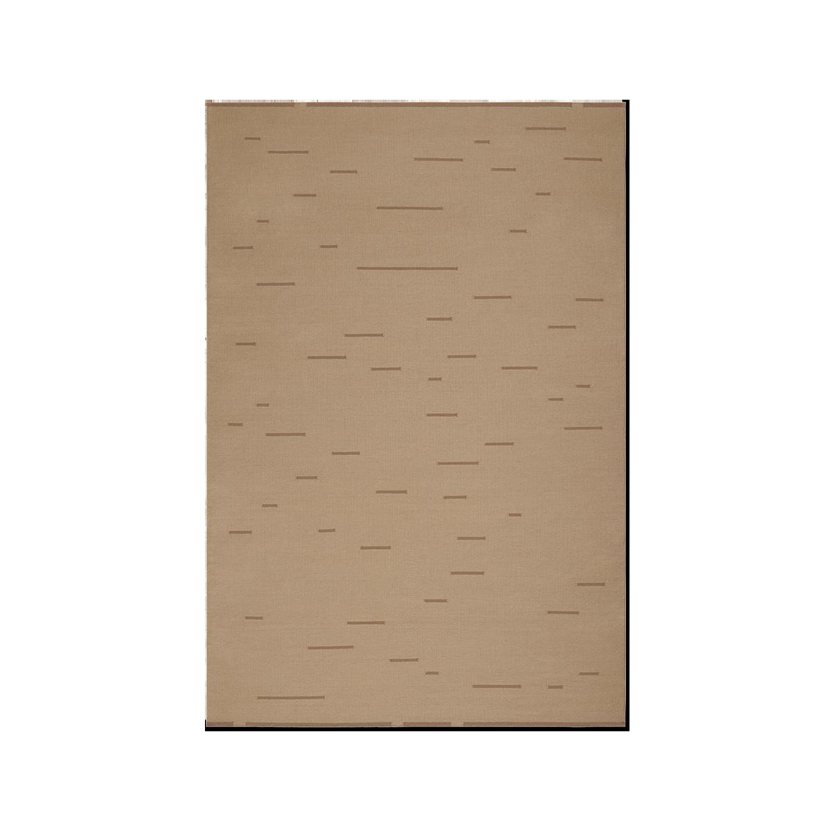 Product image of Rain Beige flat-weave rug.