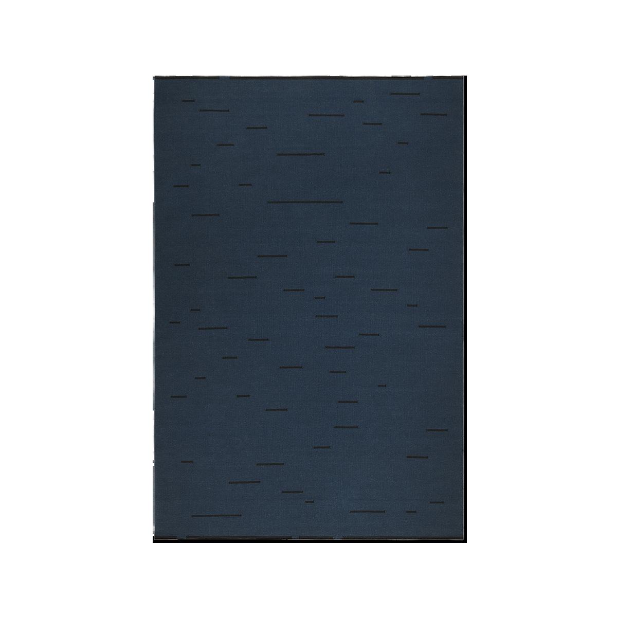 Product image of Rain Teal flat-weave rug.