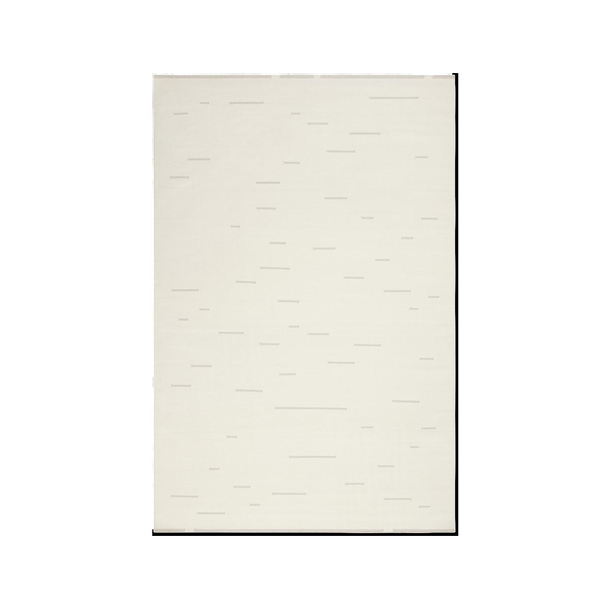 Product image of Rain Dusty White flat-weave rug.