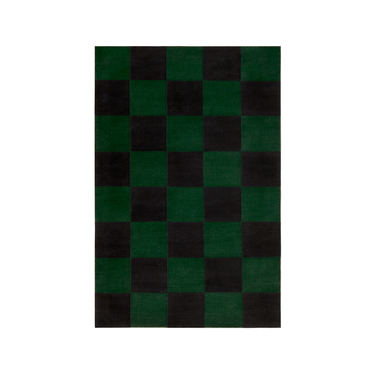 Product image of the Square Green Flatweave rug.