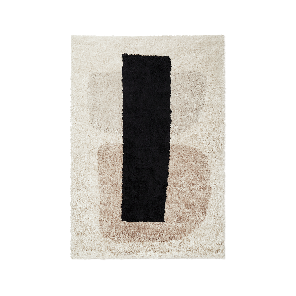 Product image of Monolith 1, a shaggy wool rug with an abstract pattern.