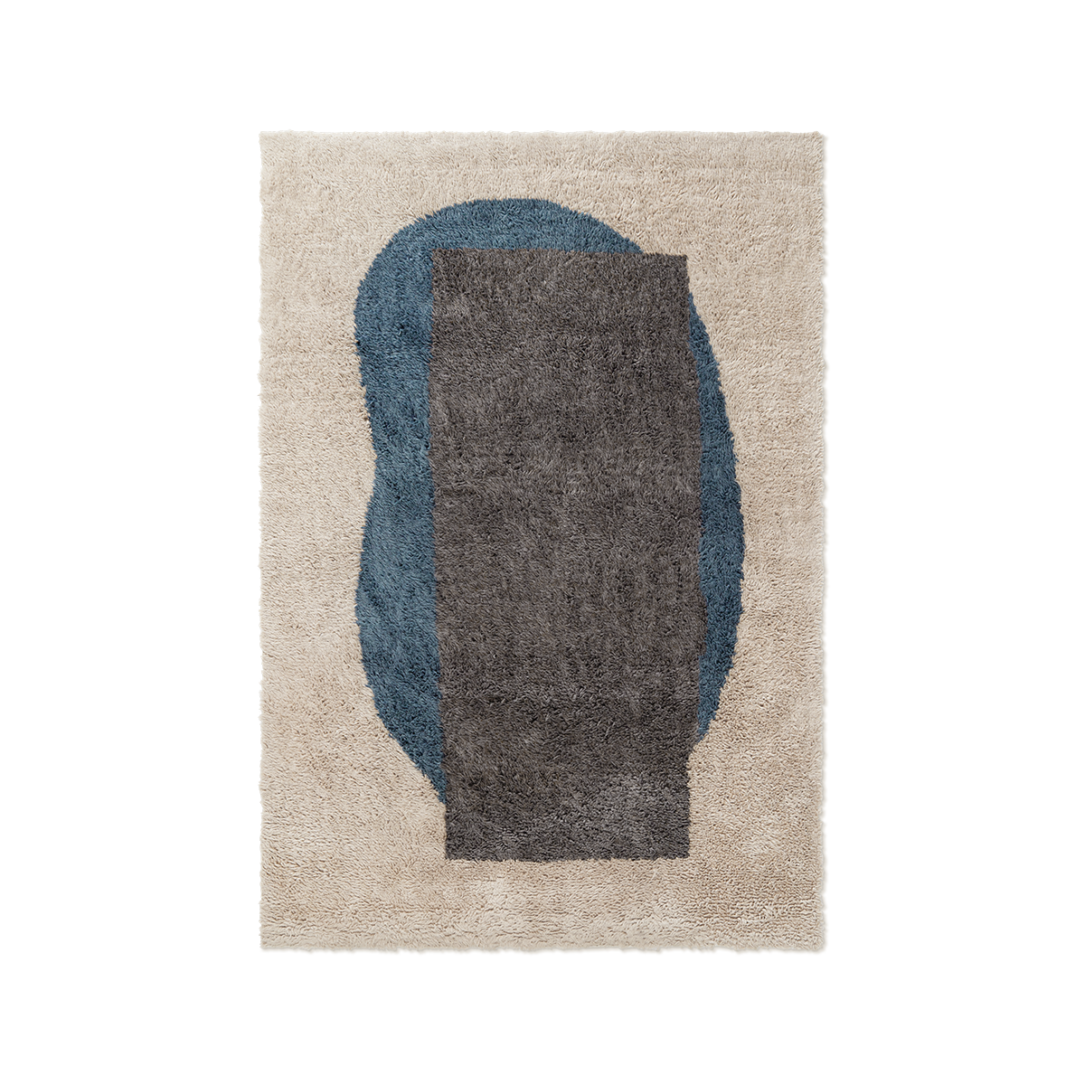 Product image of Monolith 2, a shaggy wool rug with an abstract pattern.