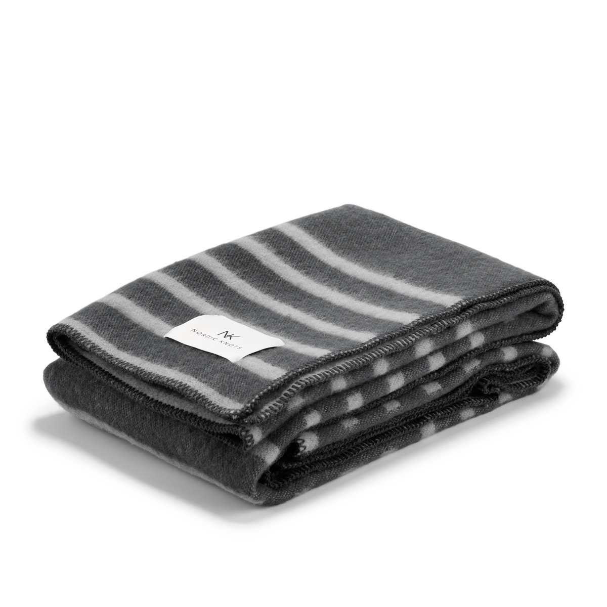 Wool blanket Classic in color steel folded neatly.