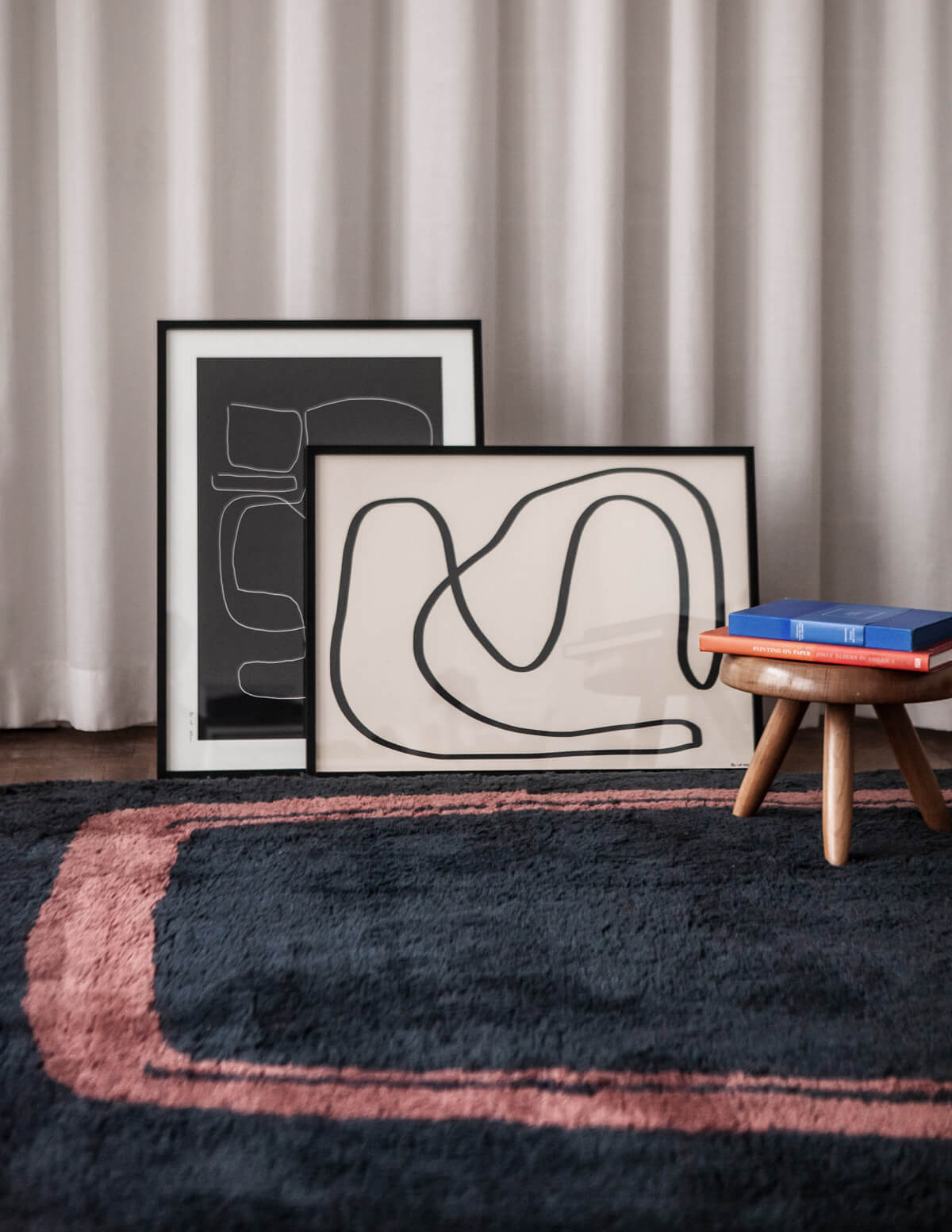 Simple Object 11 shown with the artwork for the Art on Rugs collection.