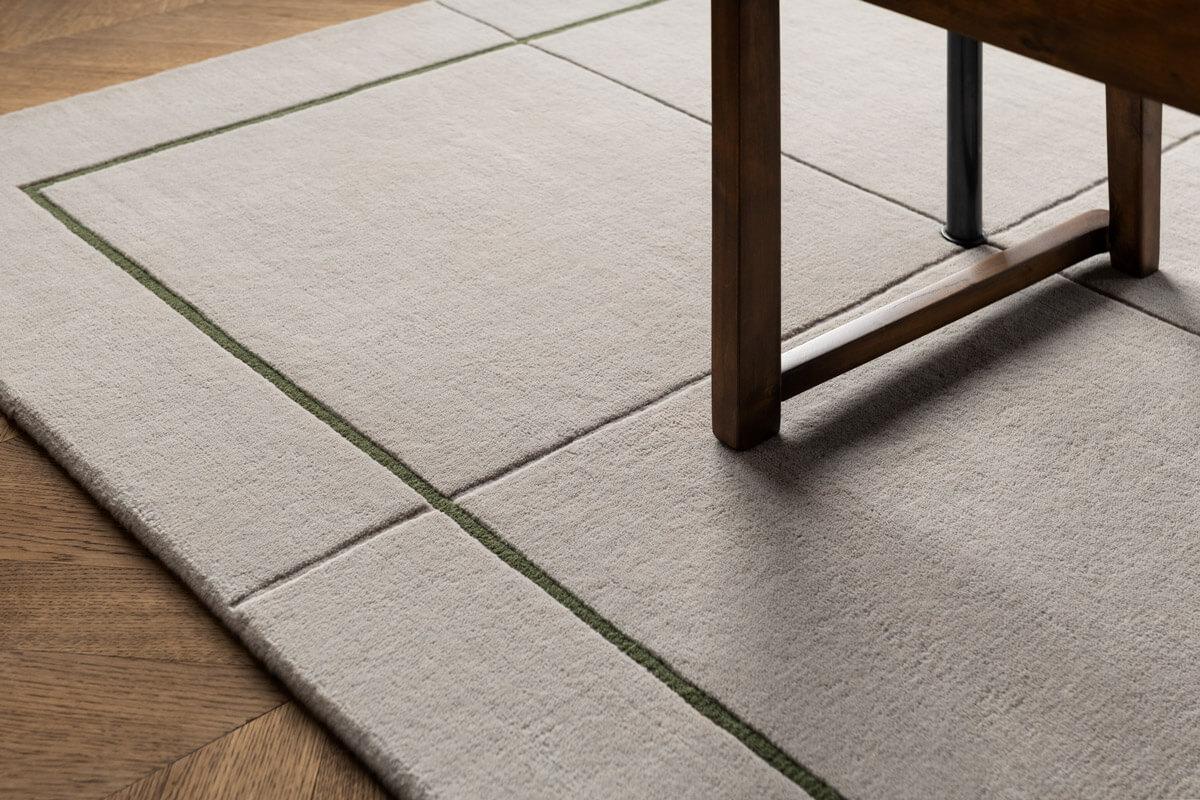 Close up of plush rug AML02.