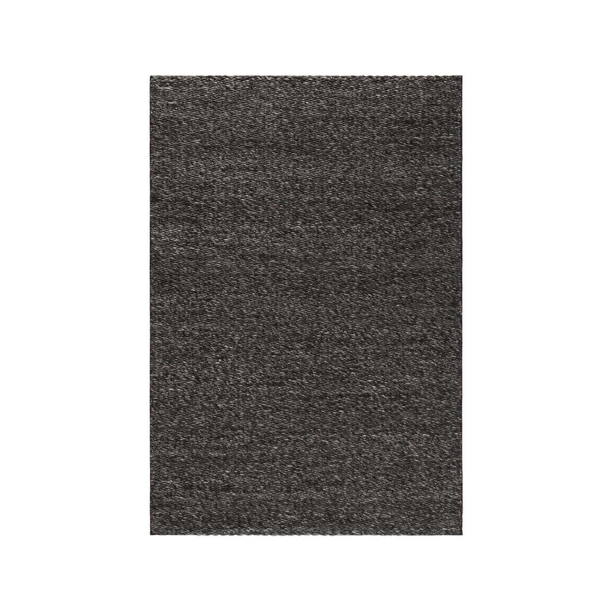 Product image of the chunky flatweave rug Dunes in the color Anthracite Mix. It has a thick, braided texture.