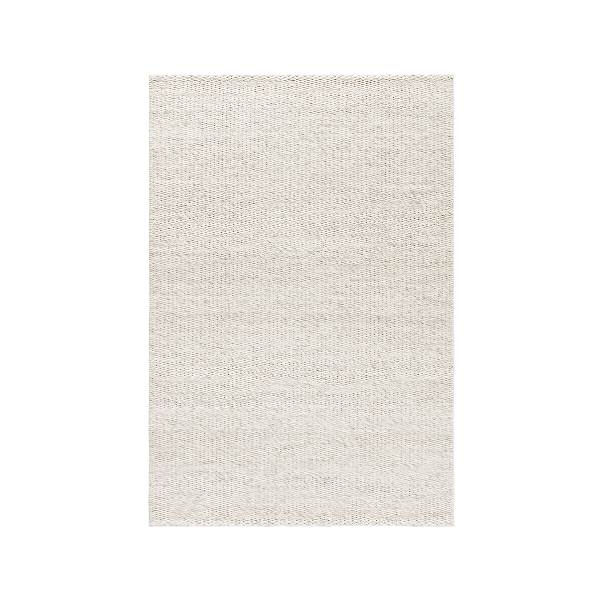 Product image of the chunky flatweave rug Dunes in the color Sand Mix. It has a thick, braided texture.
