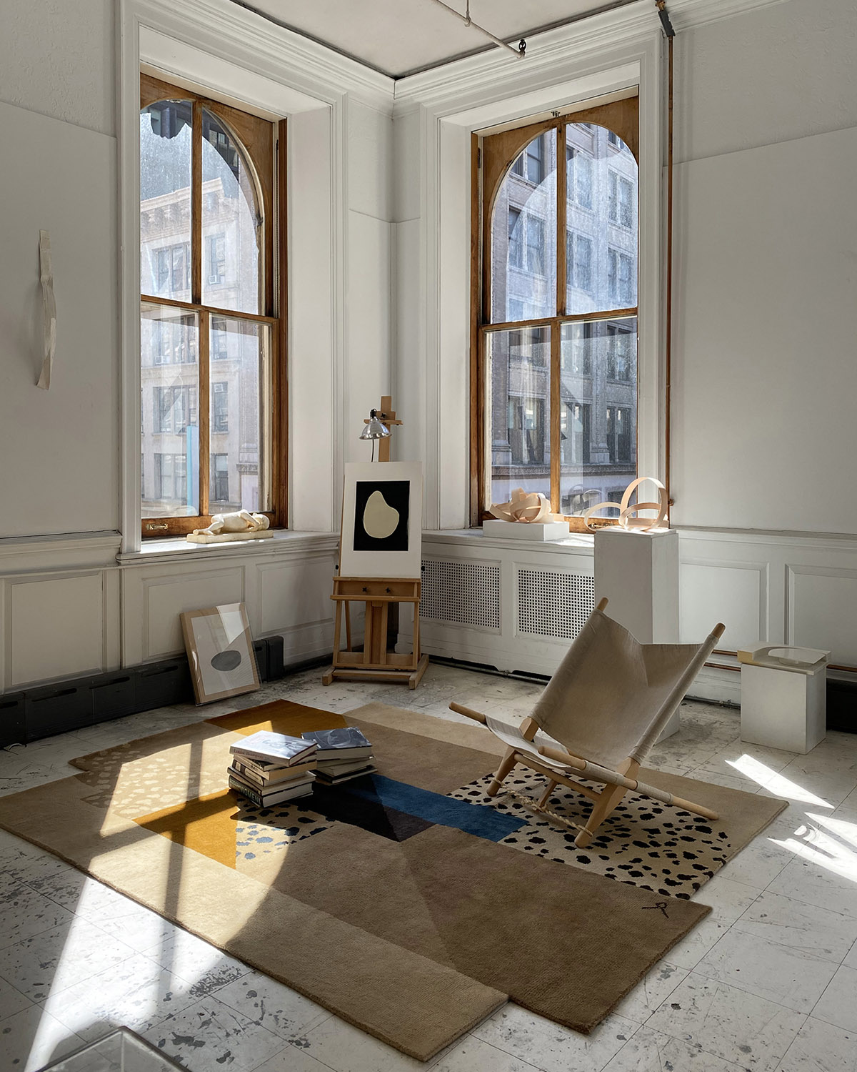 Art Deco Brown in a New York Artists loft apartment.