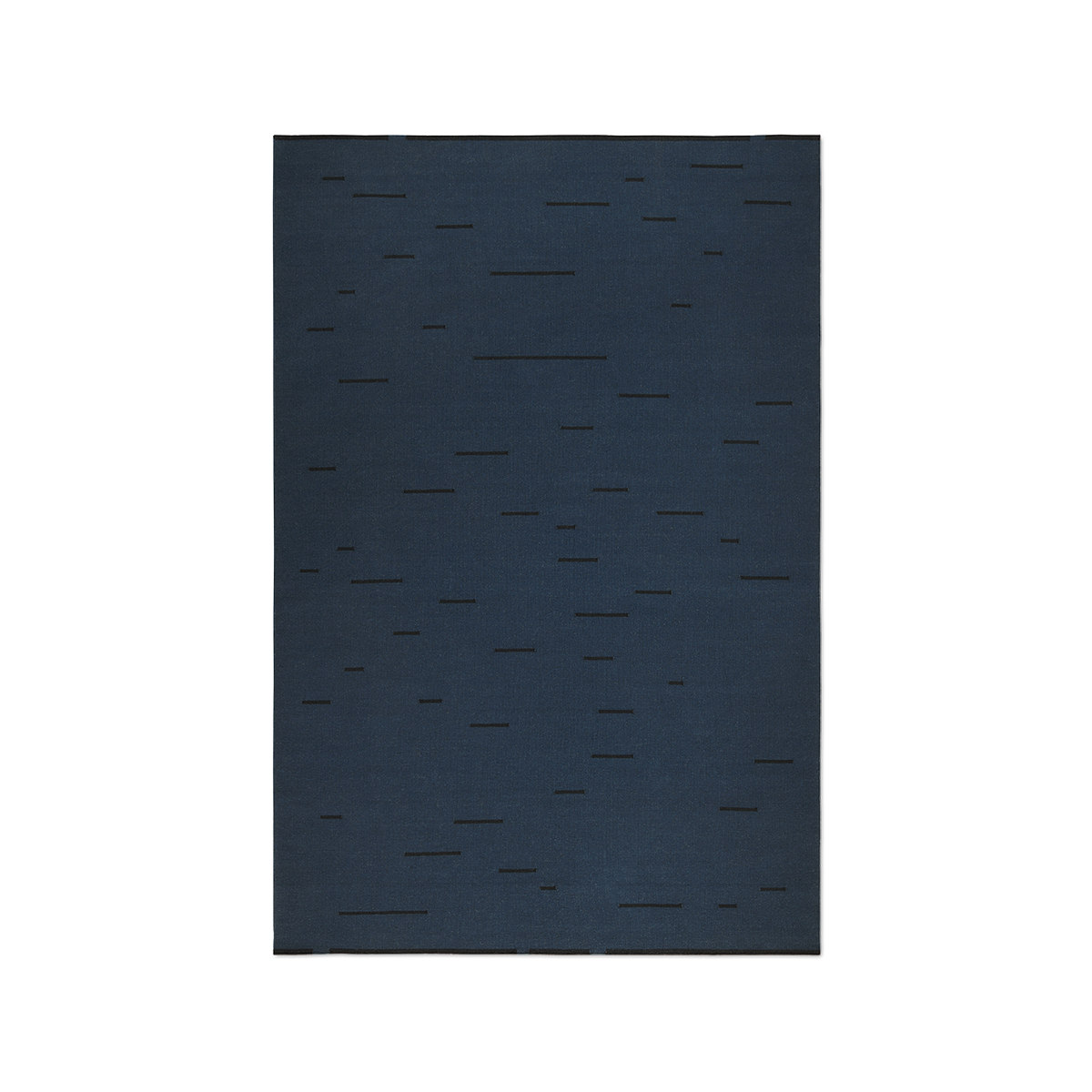 Product image of Rain Teal flat-weave rug.