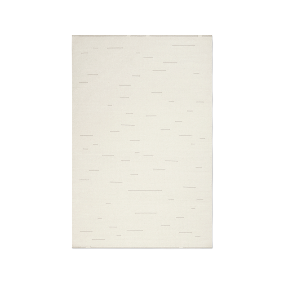 Product image of Rain Dusty White flat-weave rug.