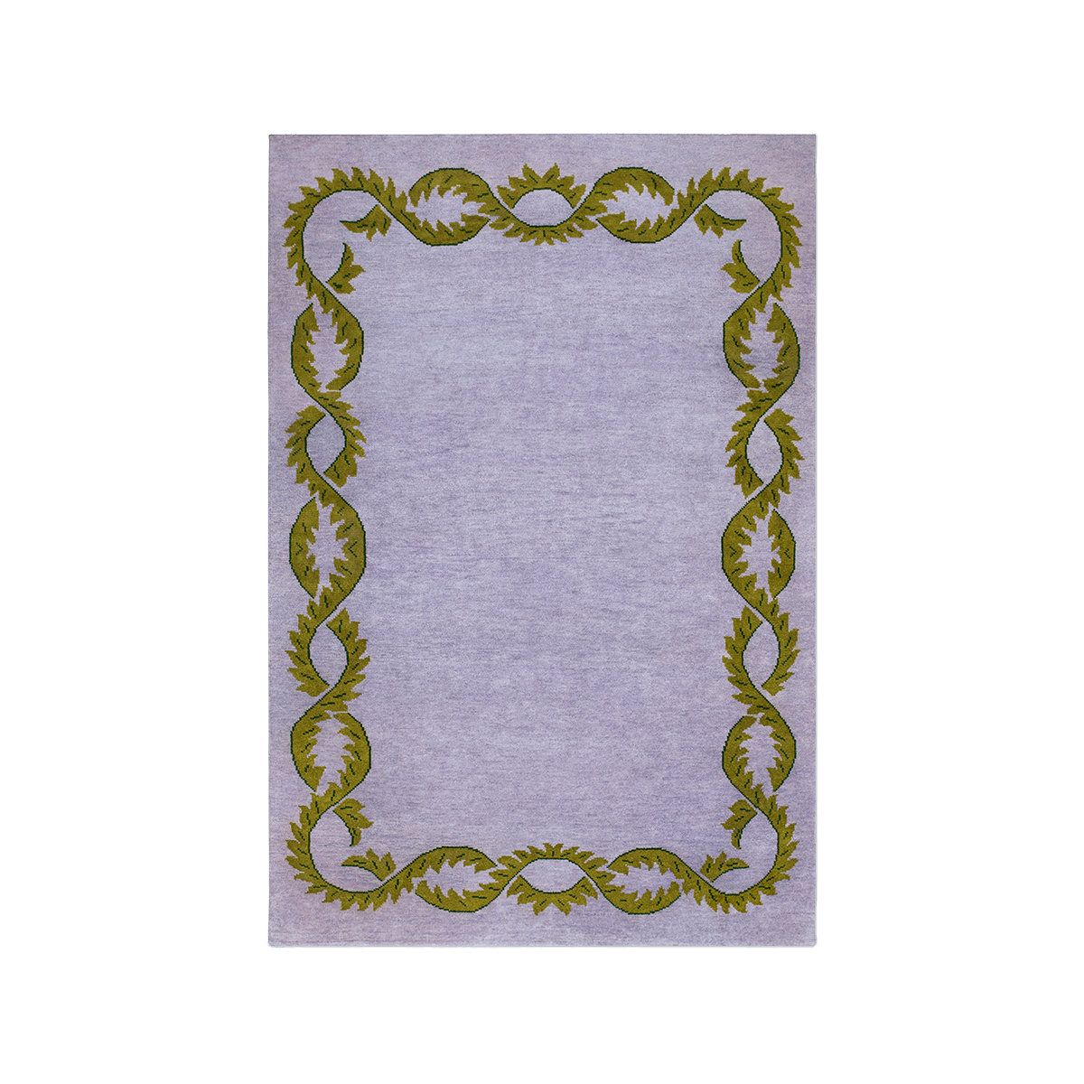 Climbing Vine hand knotted wool rug.