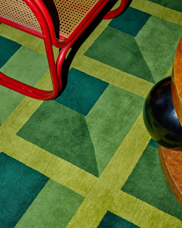 Garden Maze rug up close in a beautiful palace